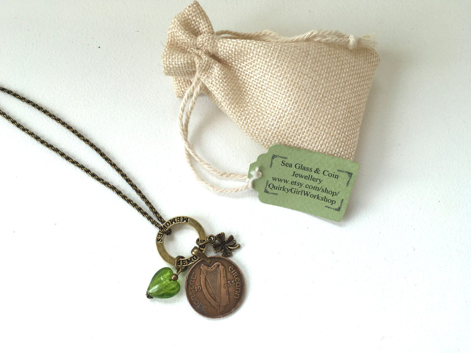 1933 Irish coin necklace, 83rd birthday gift for her