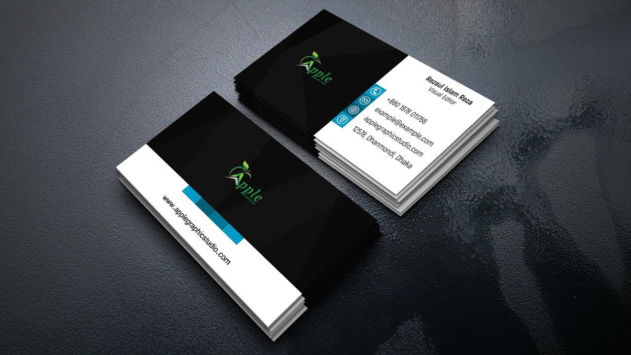 How to Create a Modern Business Card Design | Photoshop Tutorial ...