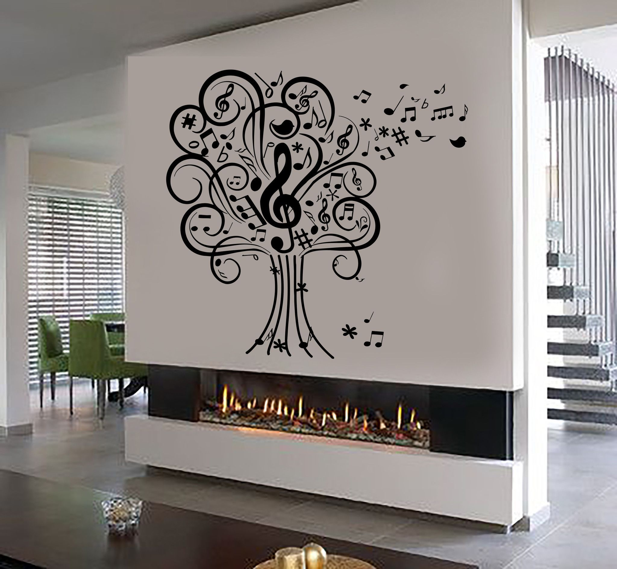 Vinyl Wall Decal Musical Tree Music Art House Interior Room - Locations where sell wall decals