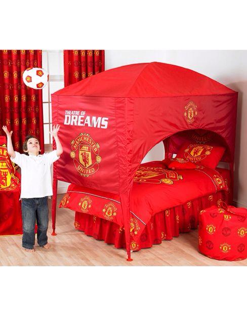 MU fans! | Boys soccer bedroom, Soccer bedroom, Soccer room