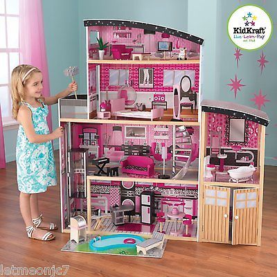 Big Dollhouse Doll House Barbie Size Furniture Kidkraft Sparkle