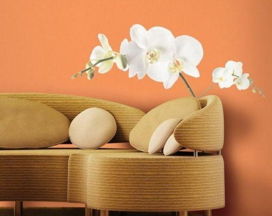 Slaapkamer Dekor Idees : Wohnzimmer wand dekor ideen mit floralen mustern dekoration