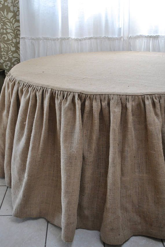 Merveilleux Round Burlap Tablecloth This Listing Is For A 60 Round Burlap Tablecloth  With Gathered Skirt, The Top Is Lined And It Has A Tailor Finish Burlap  Fabric Is ...