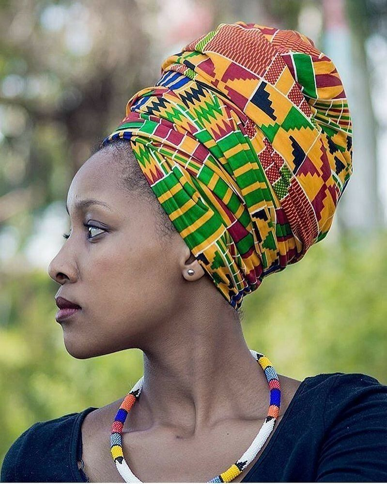 африканские головные фото воланом