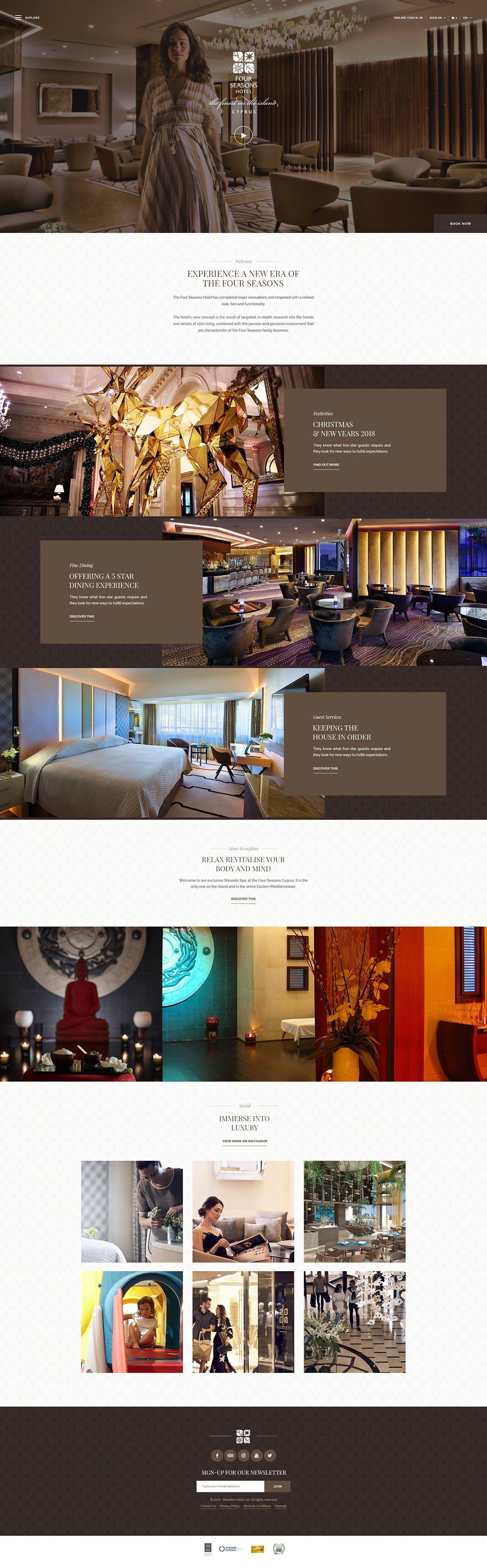 The Four Seasons Hotel Cyprus Web Design By Loris Stavrinides Elegant Website Design Four Seasons Hotel Fashion Web Design