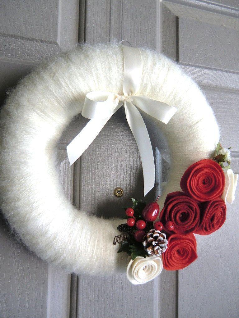 Photo of ghirlanda natale lana – christmas wreath of wool