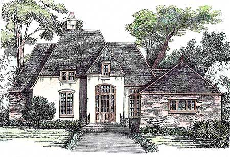 Small French Country Cottage House Plans