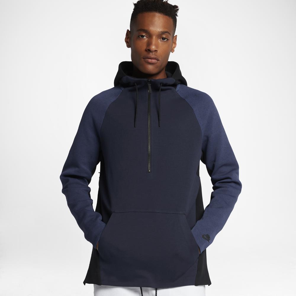 741621fede7 Nike Sportswear Tech Fleece Men s Hoodie Size Medium (Blue) - Clearance Sale