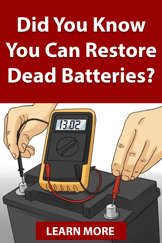 Diy Battery Reconditioning In 2020 Batteries Diy Repair Batteries
