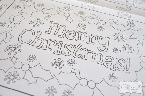 All Things Organised And Christmas Christmas Placemats Kids
