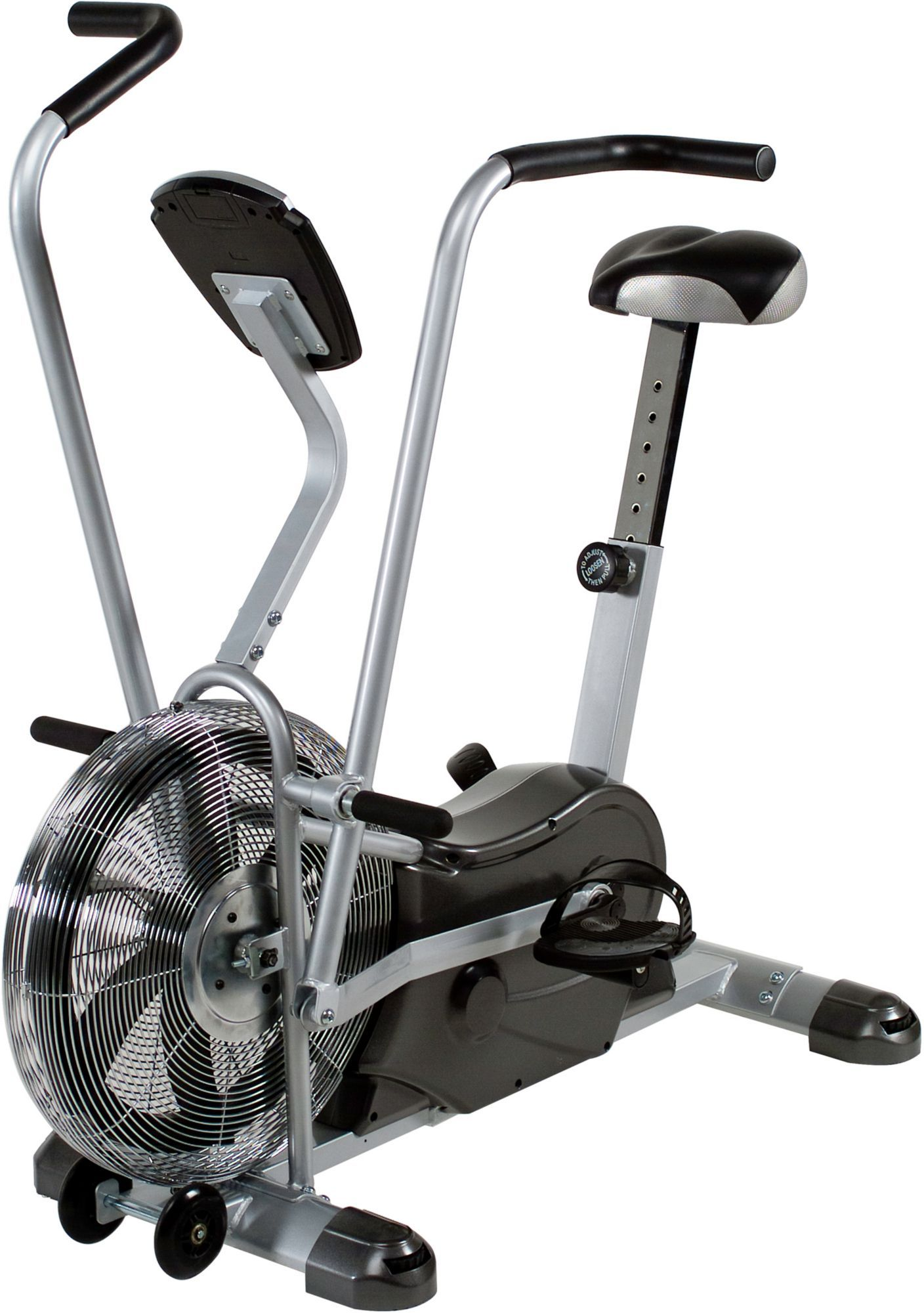 Marcy Deluxe Air Fan Exercise Bike, Silver Bike, Marcy
