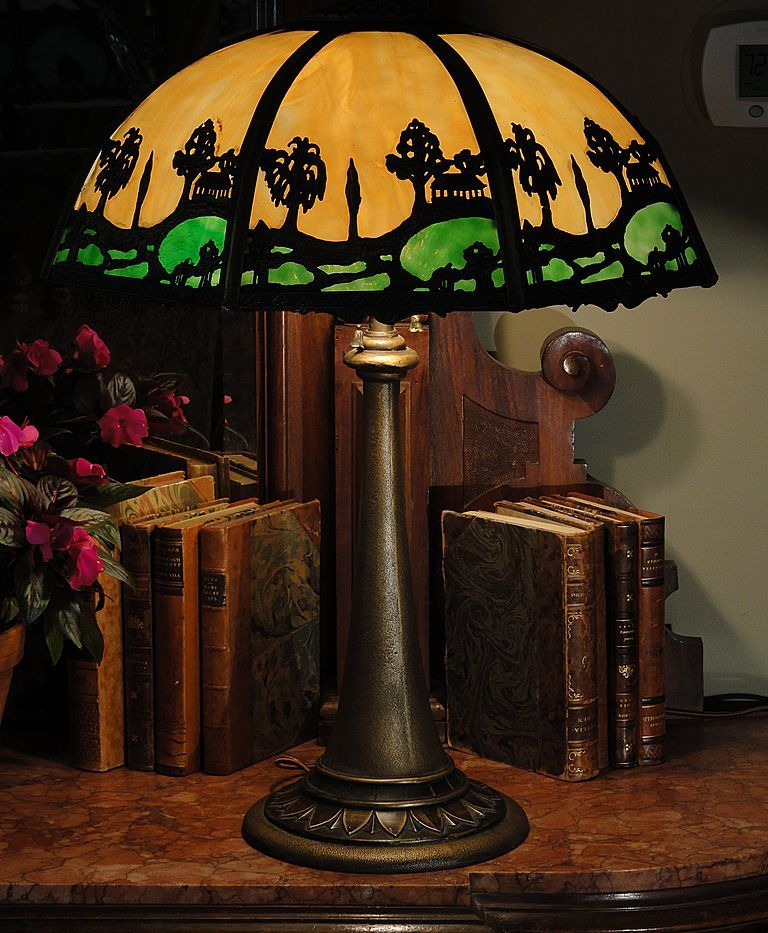 Lamps And More: Slag Glass Lamp C 1900-1910