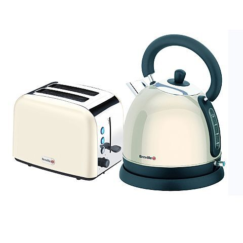 breville cream kettle u0026 toaster set kettles asda direct