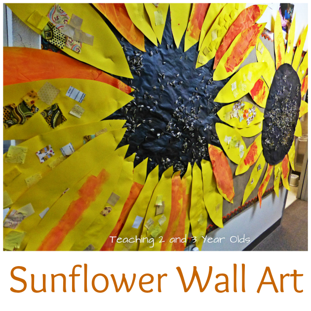 Sunflower Wall Art for Toddlers and Preschoolers | Pinterest ...