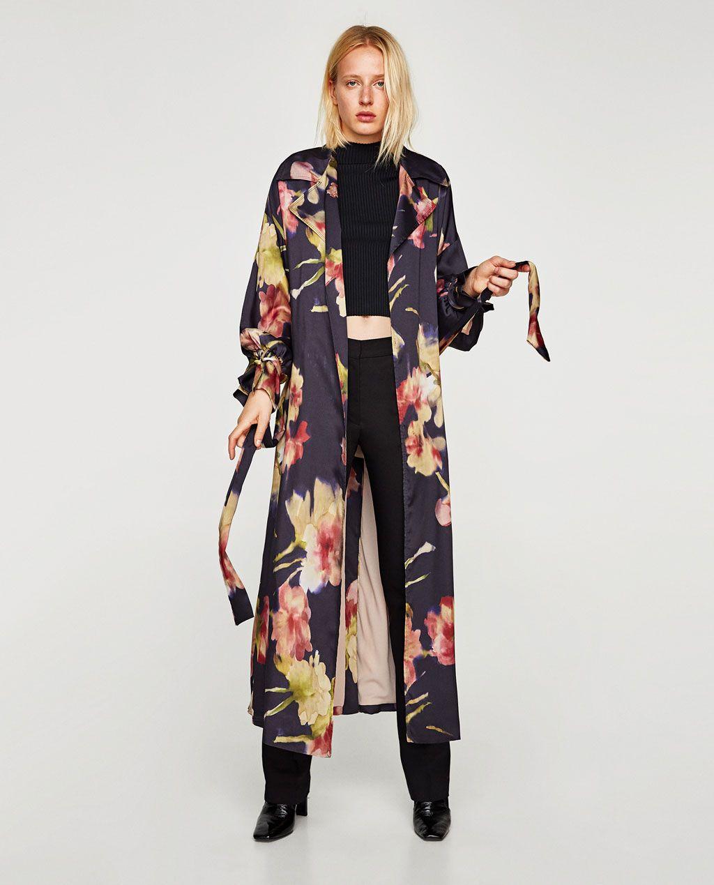 Zwangerschapskleding Zara.Oversized Satijnen Regenjas Nieuw Dames Zara Belgie Aandoen