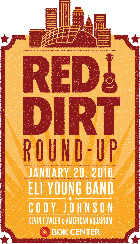 Red Dirt Round Up Fri Jan 29 Bok Center 200 South Denver Tulsa Ok