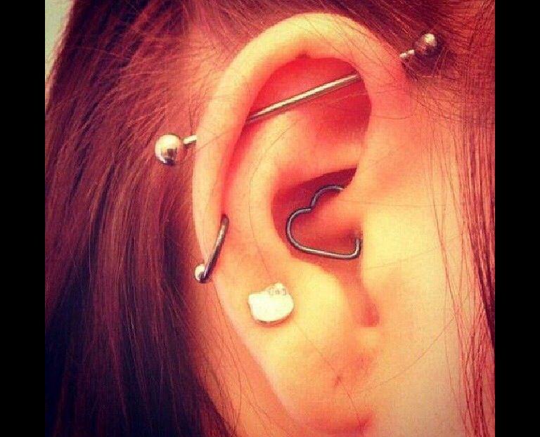 Middle Cartilage Piercing Industrial Bar I Want An Industrial Ear Piercings Daith Piercing Middle Cartilage Piercing