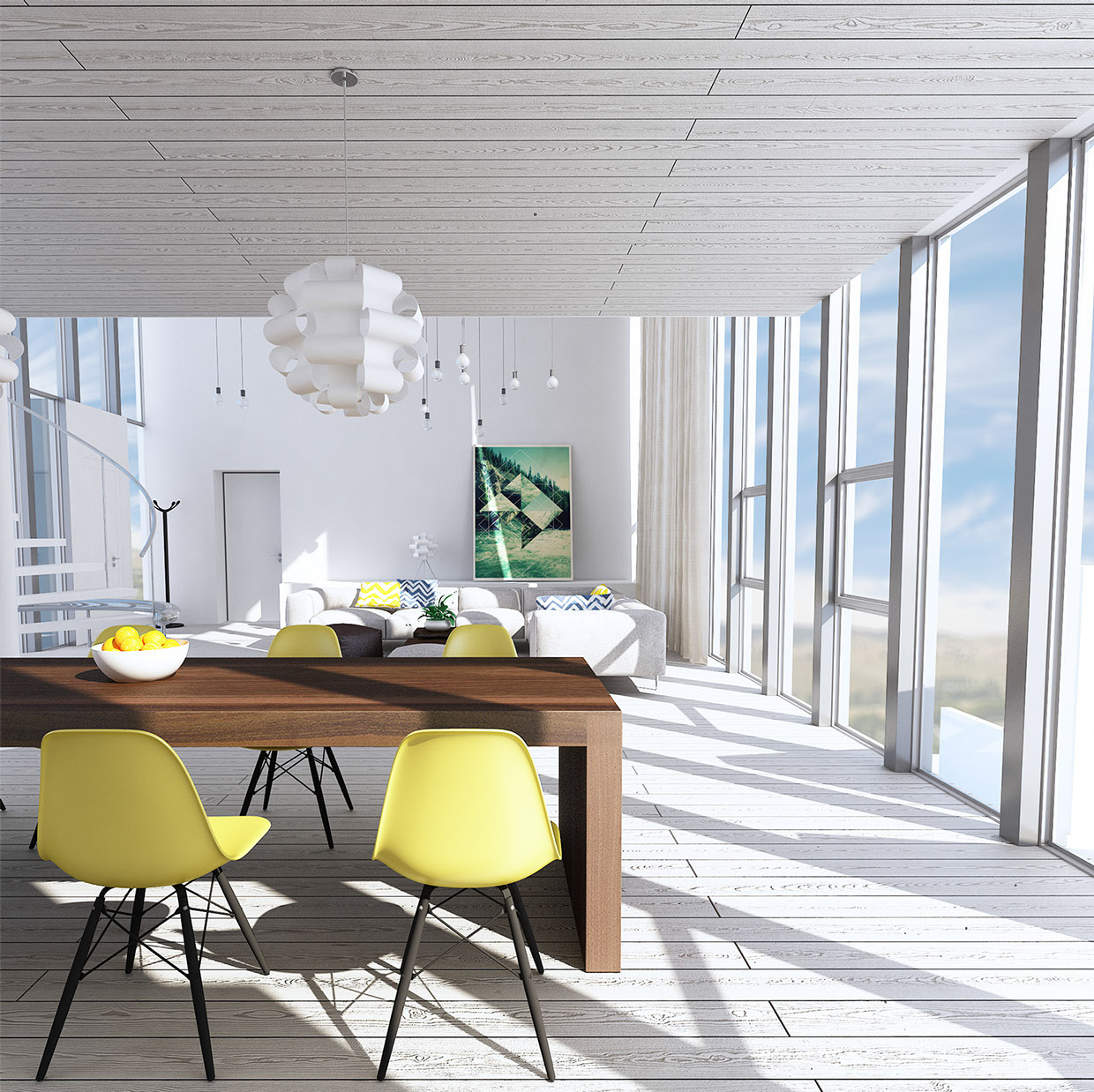 Roohome.com -For you who still want to finda suitable dining room design that already included a kitchen in it, now we would like to share a dining room design ideasand complete with akitchen design that applying with trendy and modern decor ideas in it. Here, you must see how the ...