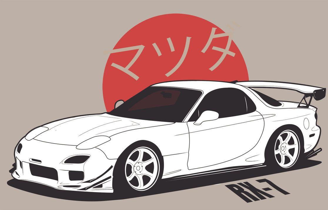 Mazda RX-7 by erithdorPL.deviantart.com on @DeviantArt