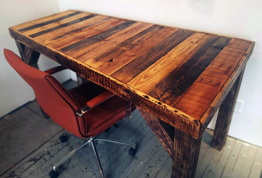 33 Stunning Reclaimed Wood Desks Reclaimed Wood Desk Wood