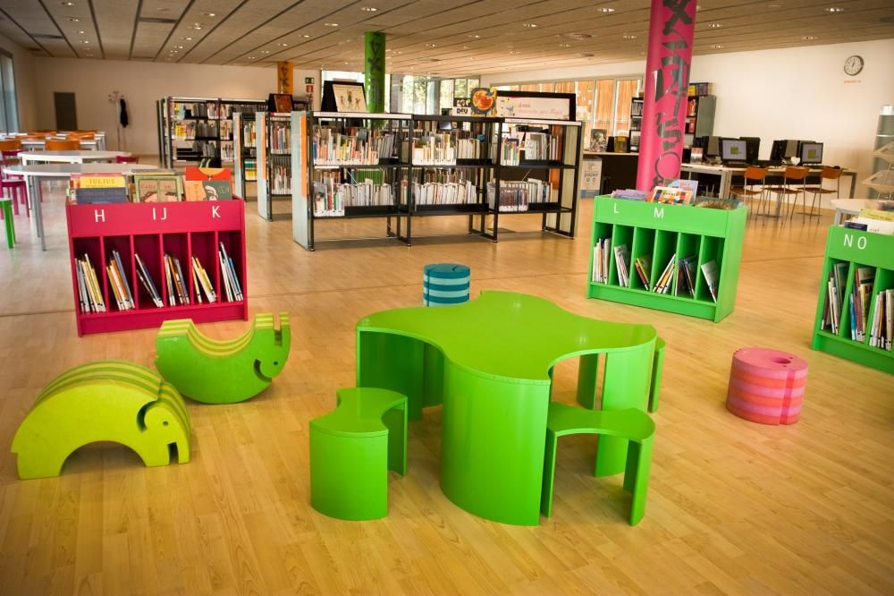 LIbrary Design Children Library Decorating Ideas With Tapja