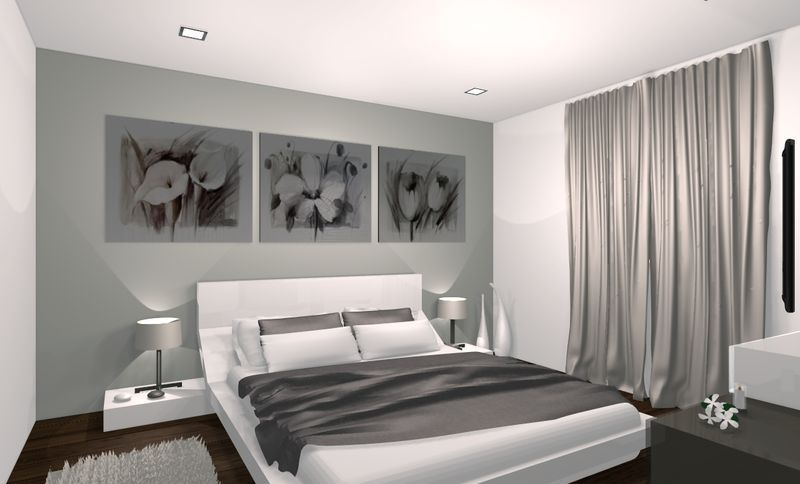 Exemple d coration suite parentale moderne suite master for Chambre design suite parentale