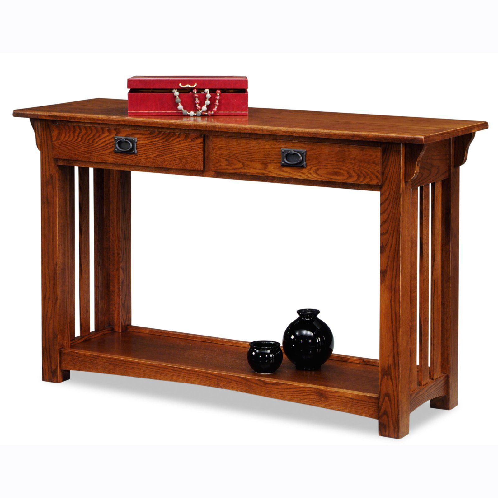 Leick Home Solid Ash Mission Console Table Mission Furniture Furniture Console Table With Drawers