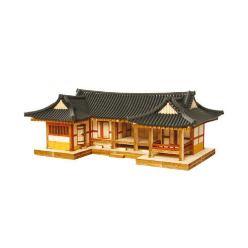 YM610-Ho-Series-Shape-Tile-roofed-House-Wooden-Model-Kit