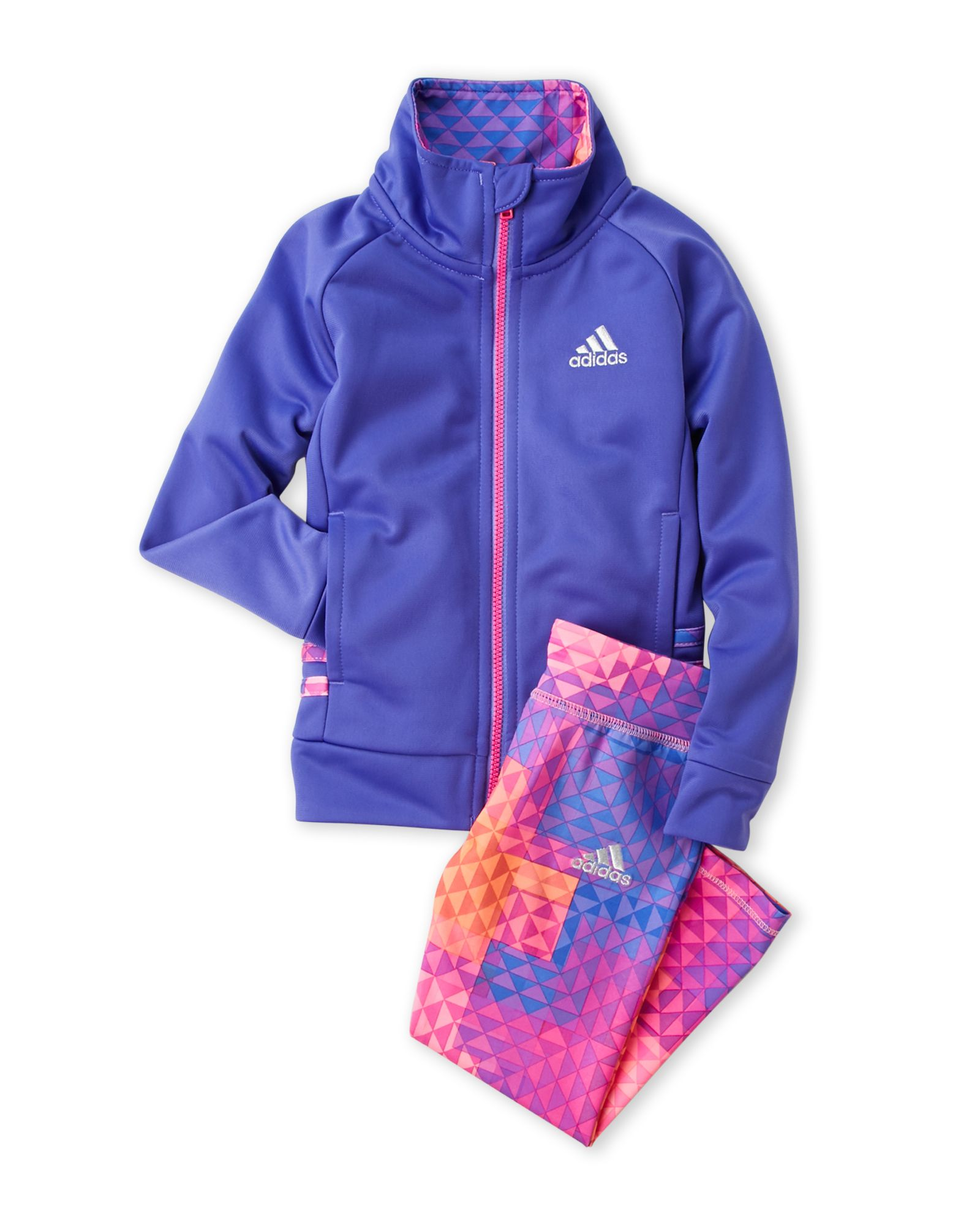 5a47dae6d8f Adidas (Toddler Girls) Two-Piece Purple Track Jacket & Leggings Set ...