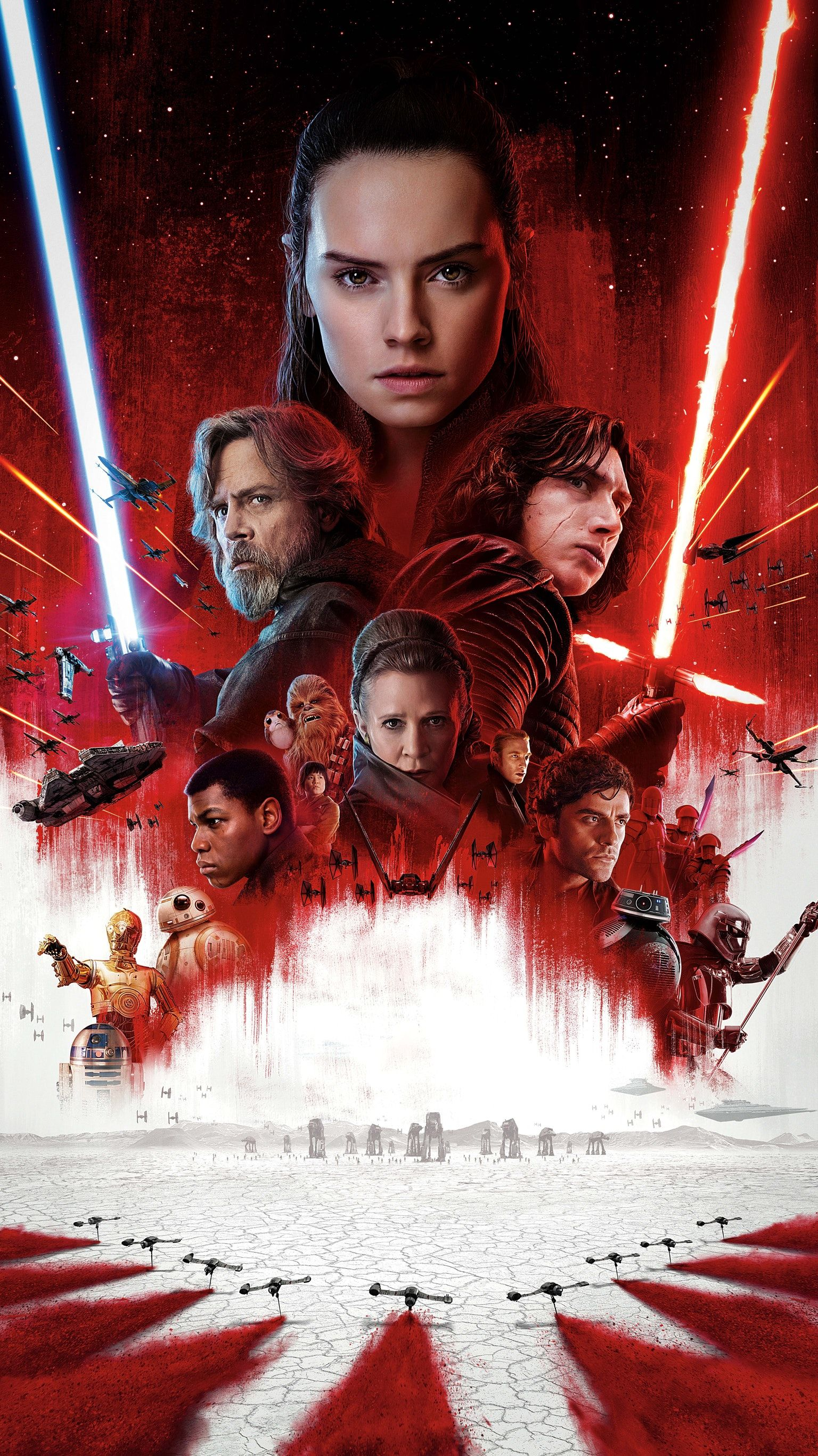 Star Wars The Last Jedi 2017 Phone Wallpaper Moviemania Star Wars Watch Star Wars Movie New Star Wars