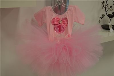 Light Pink sequin Minnie mouse birthday outfit. www.stylotutuboutique.com  #stylotutuboutique #personalized #littlegirl  #pinkminniemouse #pinkoutfit