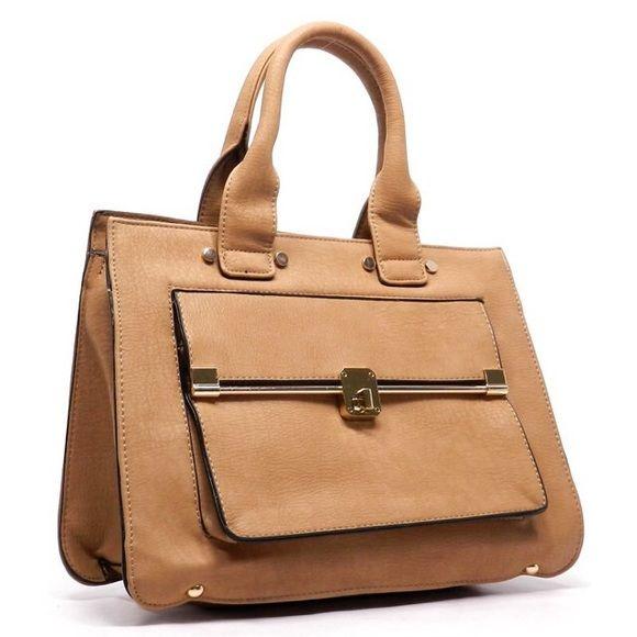 Tote Bag DescriptionColor: Mustard Lining: Faux Leather / Closure: Zip top  / Measurements:Approx. L 14 * H 10.5 * W 4.5 (5.5 D) Victoria Perez Collection Bags Totes