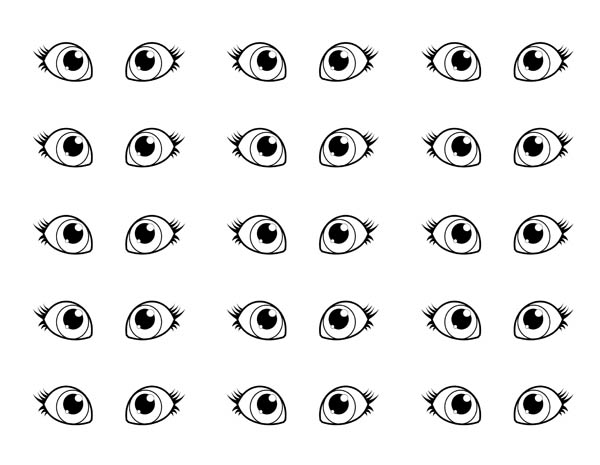 Pair Of Eyes Coloring Page : Coloring Sun Copic, Copic Color Chart, Coloring  Pages