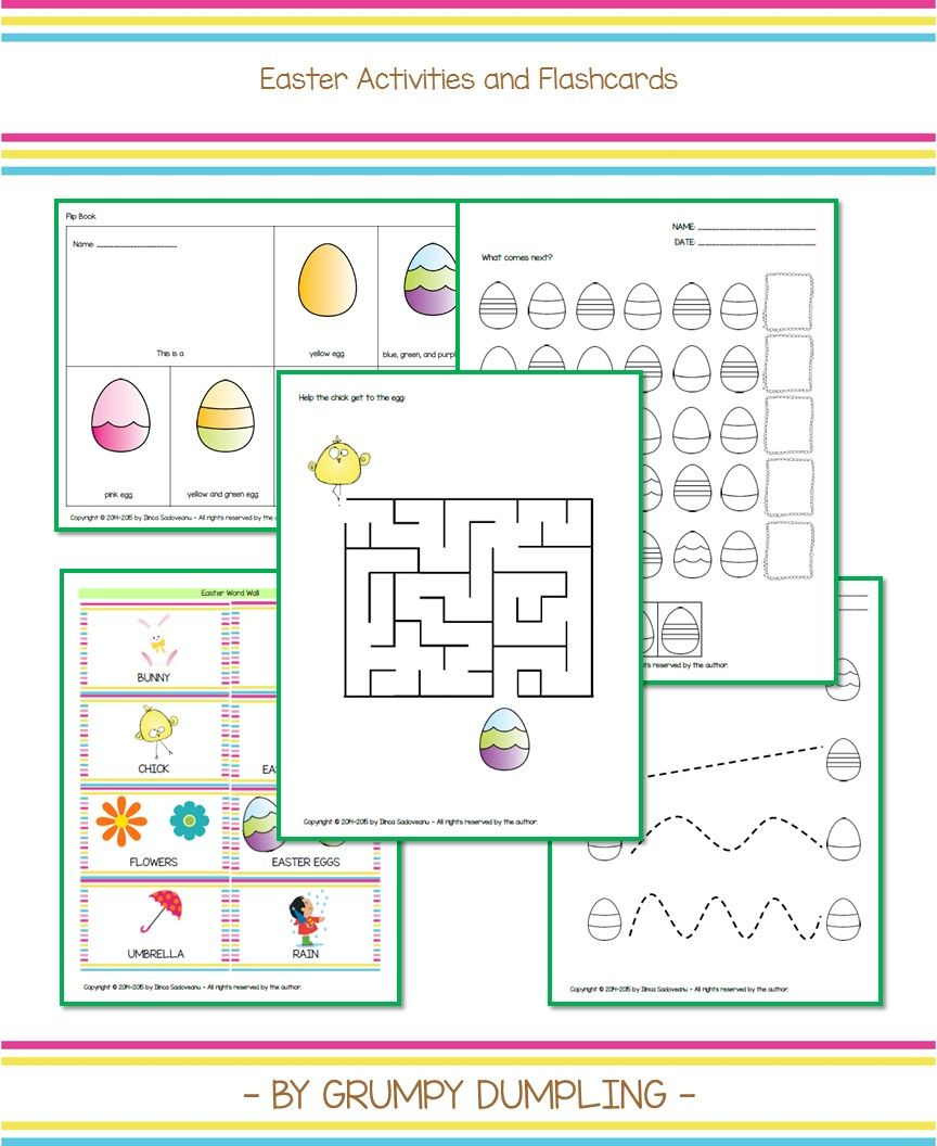 Easter Egg Activities and Flashcards | Tracing worksheets, Flip ...