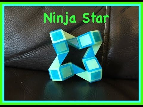 Smiggle Snake Puzzle Or Rubik S Twist Tutorial How To Make A Ninja Star Shape Video Ninja Star Rubik Snake Snake Patterns