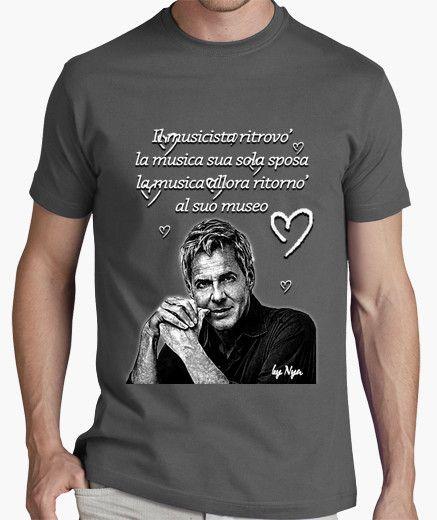NeroMusicisti Claudio TopsTops Shirt Baglioni Su E T Mens 5RL4A3Scjq