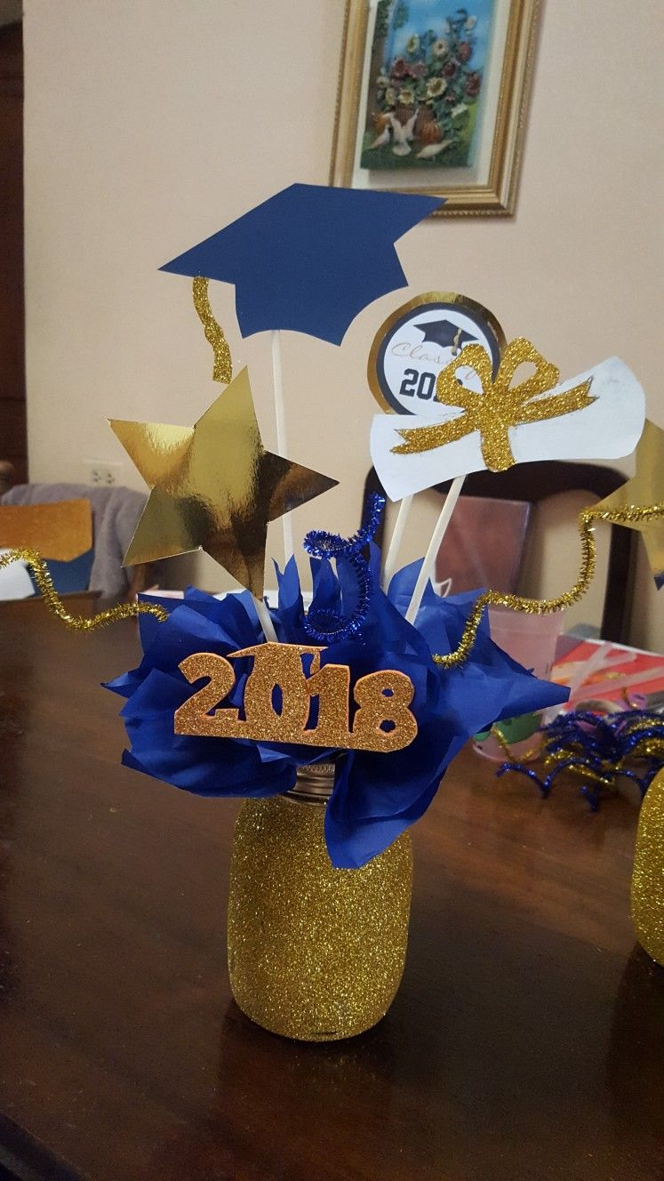 Centro De Mesa Para Graduacion Fiestas De Graduacion Decoracion