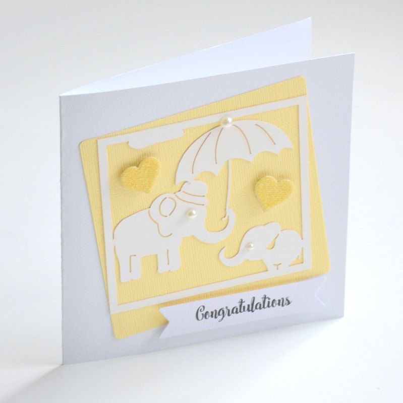 Baby Shower Card Gender Neutral Baby Shower Yellow Baby Shower Expectant Mother  Pregnancy Congratulations Baby Card Greeting Card BUBSH004 - pinned by pin4etsy.com