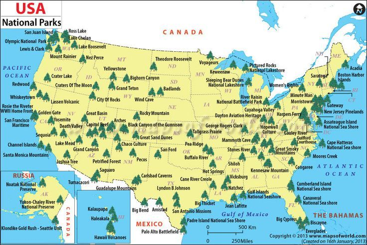 Us State Park Map US National Parks Map | List of National Parks in the US | Us