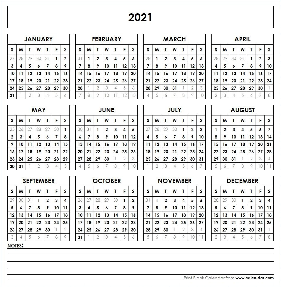 2021 Printable Calendar In 2020 Printable Yearly Calendar Yearly Calendar Template Free Printable Calendar Templates