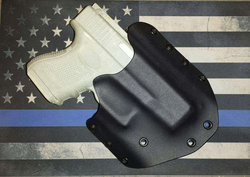 Details about OWB Kydex Holster for G 26, 27 Black Right, Or