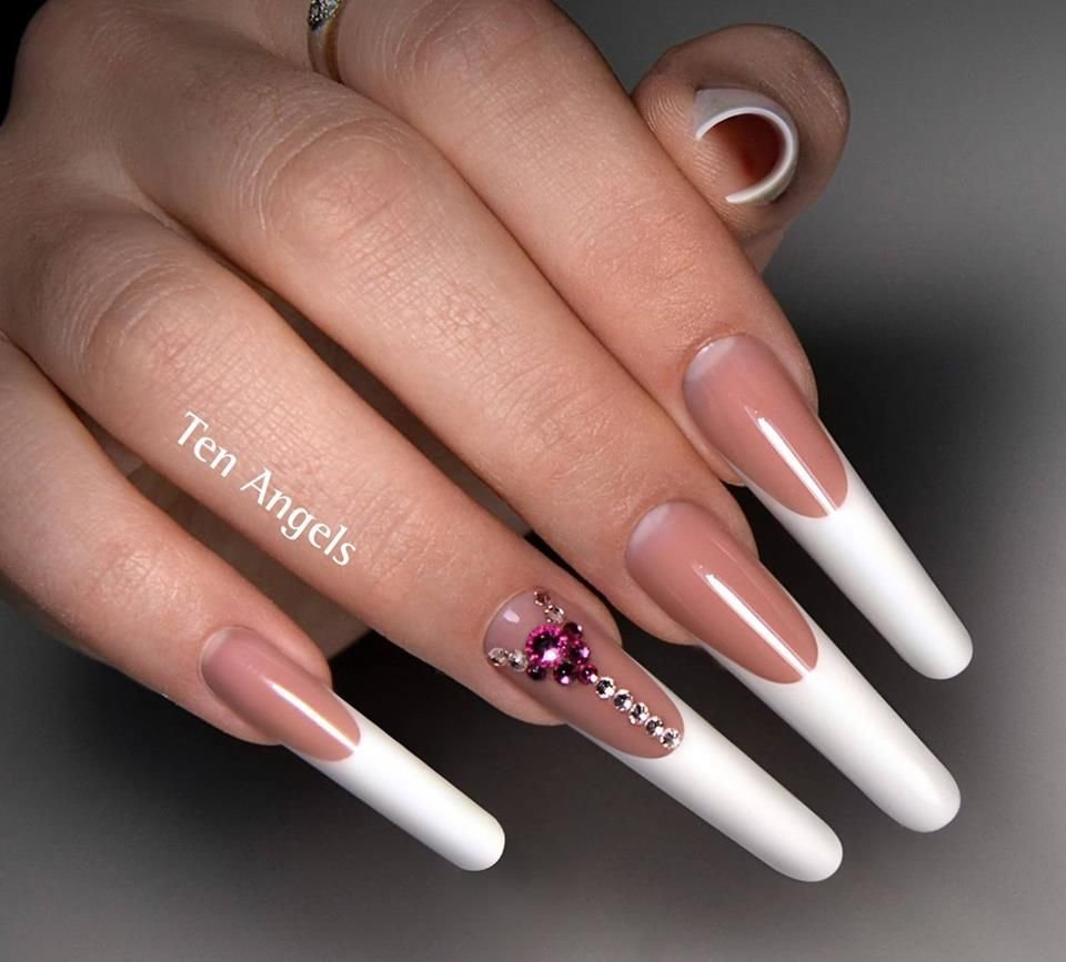 Perfect French Manicure by Ten Angels | Extreme nails | Pinterest