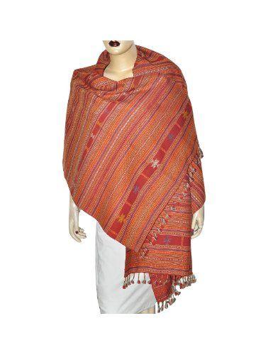 mode attrayante prix pas cher vraiment à l'aise Grande écharpe rouge brodée tendance en laine - Mode femme ...