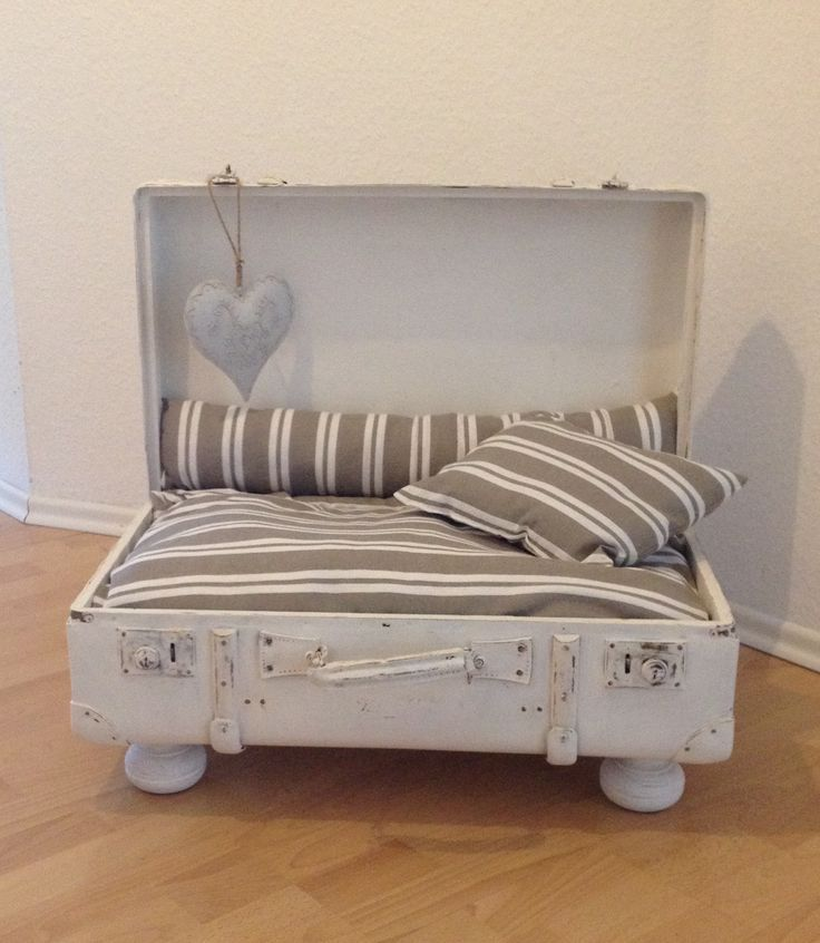 Photo of An old suitcase as a dog bed #alter #dogclothes #hundebett #koffer