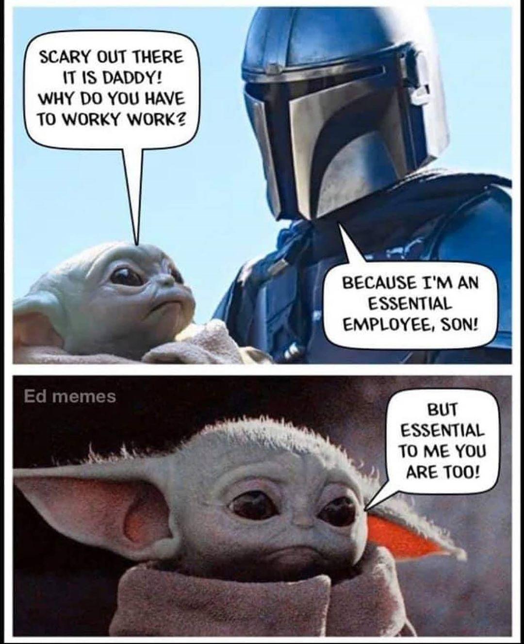Baby Yoda Harder Daddy Meme   Meme Baby