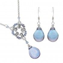 Byzantine Window Necklace and Earring Set in Amethyst Luster