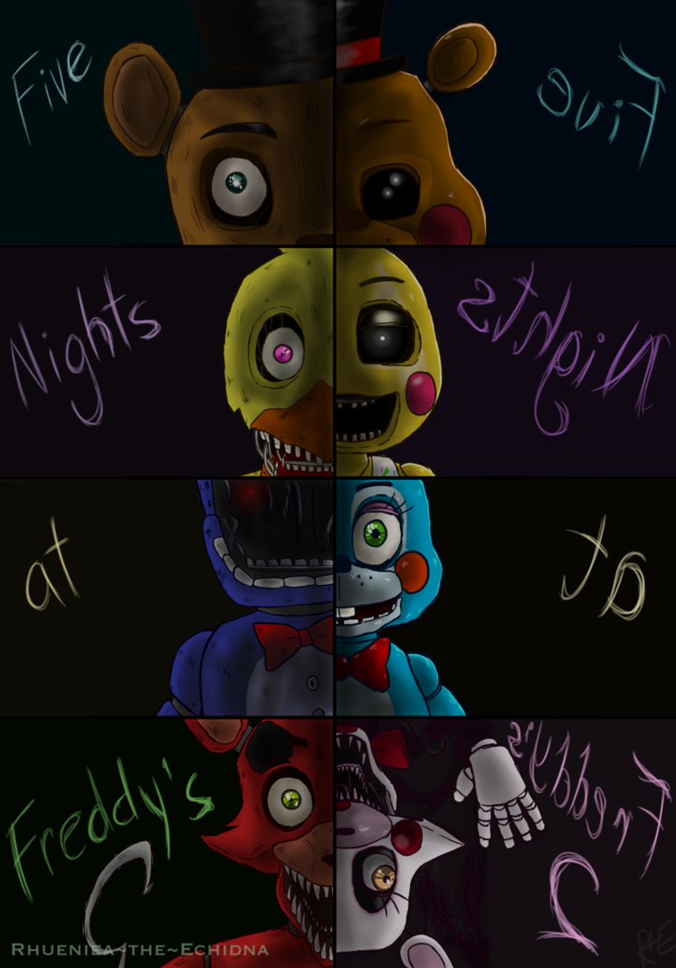 Five Nights At Freddy S 2 By Rhueniea The Echidna Deviantart Com