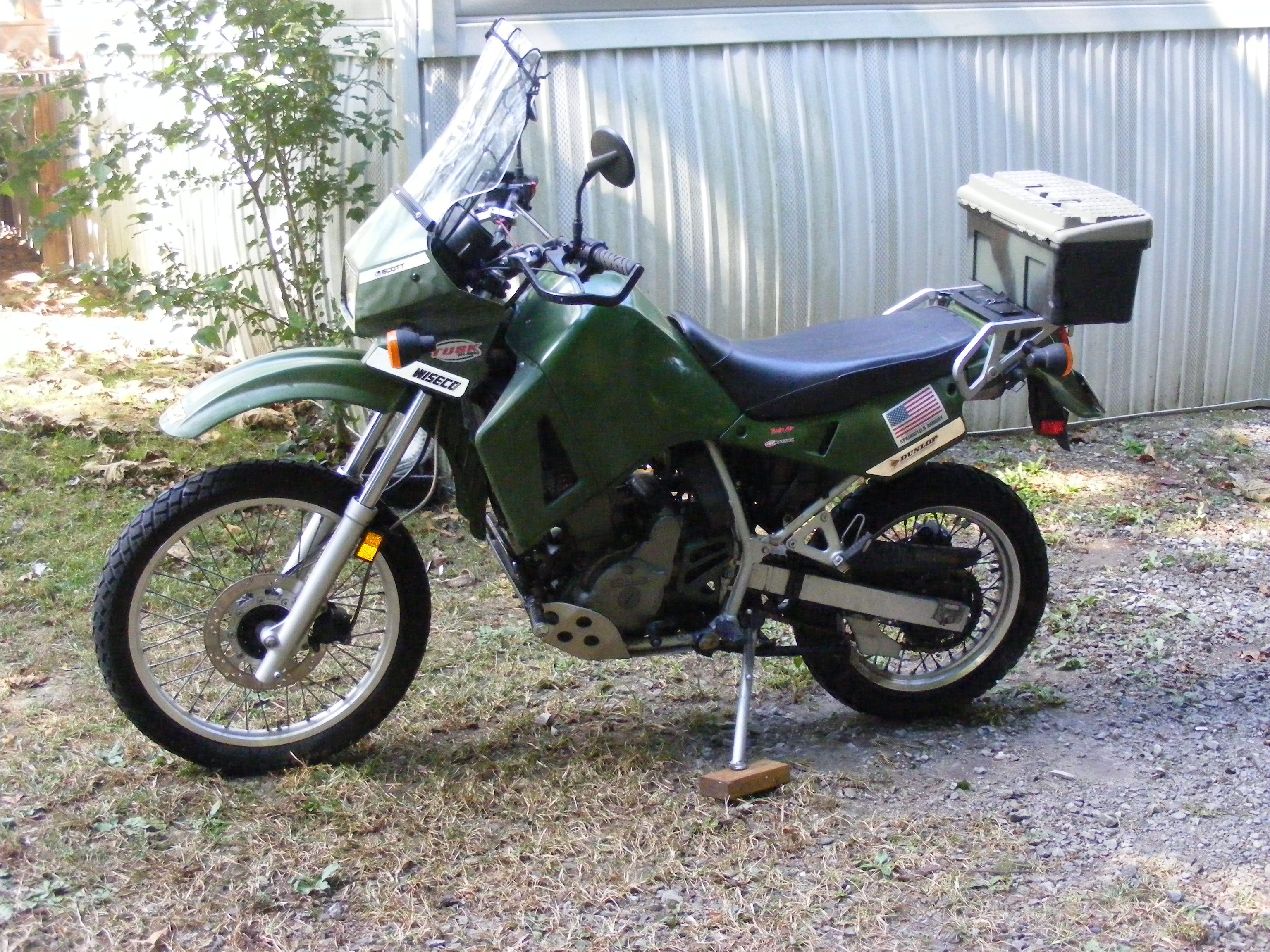 One Of My Very Dependable Klr Bikes Many Memories And Gravel Miles On This One Adventure Bike Klr 650 Bike