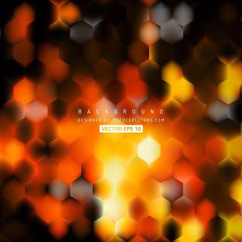 wedding card backgrounds vectors%0A Black Orange Fire Hexagon Background Template  freevectors