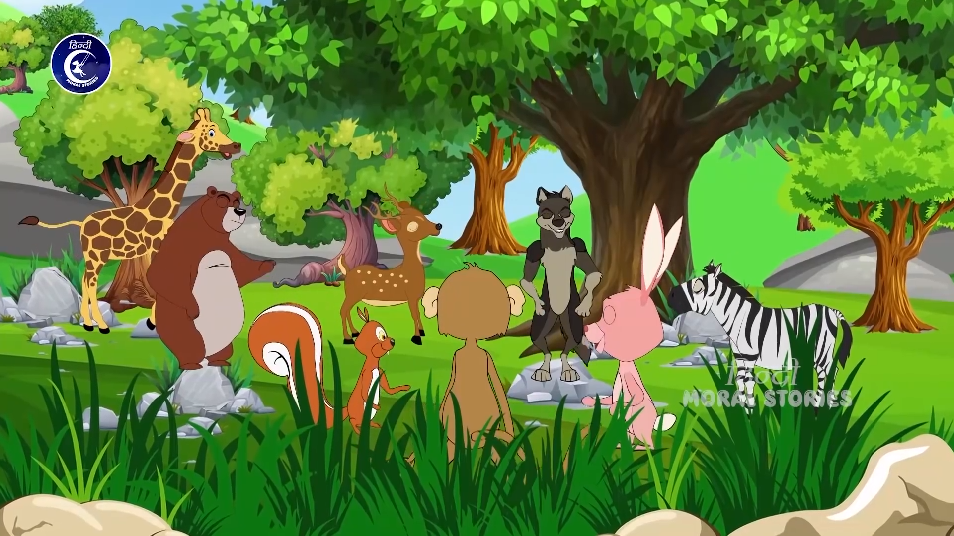 Lion and Rabbit Animated Hindi Moral Stories for… | Lion and